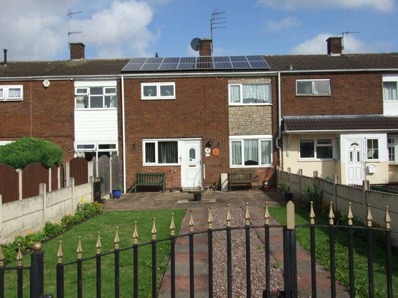 3 Bedrooms Terraced House for sale in Rudge Close, Off Stroud Avenue, Willenhall