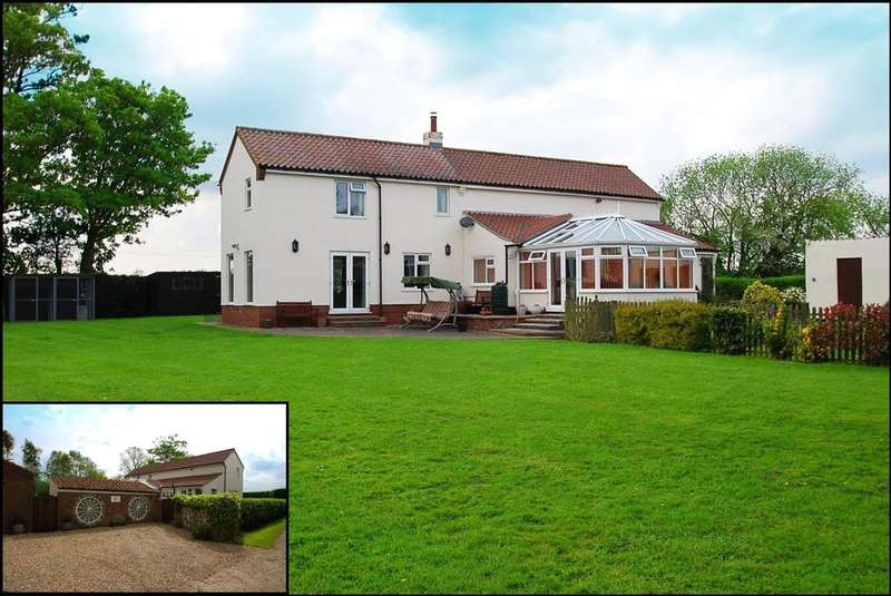 3 Bedrooms Detached House for sale in Elmtree Cottage, Marsh Lane, Burgh Le Marsh
