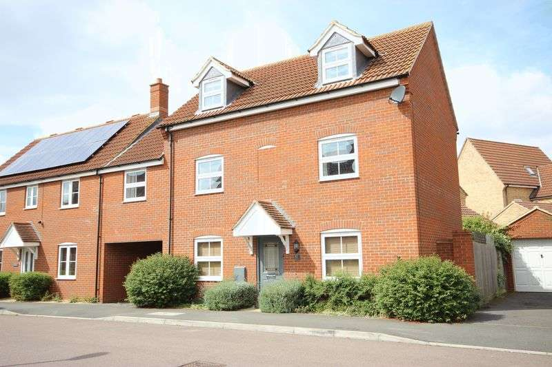 4 Bedrooms Semi Detached House for sale in Maskell Drive, Bedford