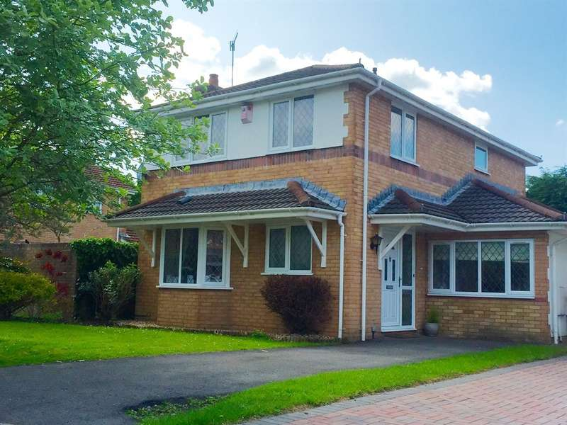 4 Bedrooms Detached House for sale in Llanfedw Close, Badgerswood, Caerphilly
