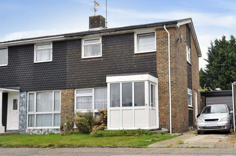 3 Bedrooms Semi Detached House for sale in Kithurst Crescent, Goring