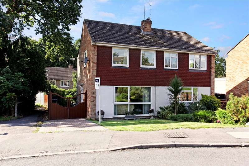 3 Bedrooms Semi Detached House for sale in Malus Drive, Row Town, Addlestone, Surrey, KT15