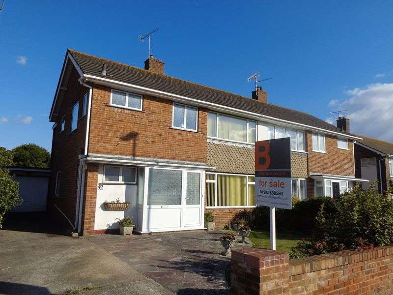 4 Bedrooms Semi Detached House for sale in Alinora Avenue, Worthing