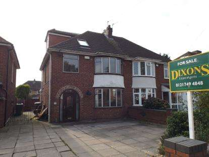 4 Bedrooms Semi Detached House for sale in Springfield Road, Castle Bromwich, Birmingham, West Midlands