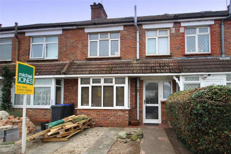 2 Bedrooms Terraced House for sale in Freshbrook Road, Lancing, West Sussex, BN15