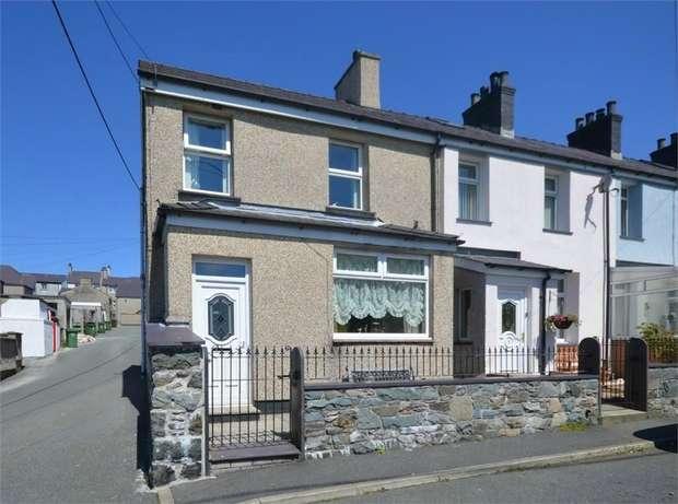 2 Bedrooms End Of Terrace House for sale in Caradog Place, Deiniolen, Caernarfon, Gwynedd