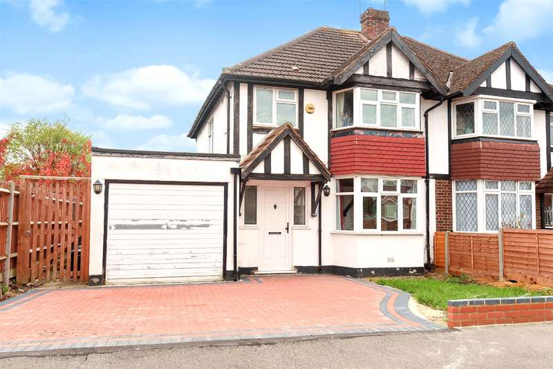 4 Bedrooms Semi Detached House for sale in Roundways, Ruislip, Middlesex, HA4
