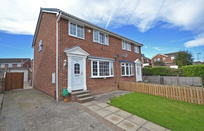 3 Bedrooms Semi Detached House for sale in Whitley Spring Crescent, Ossett