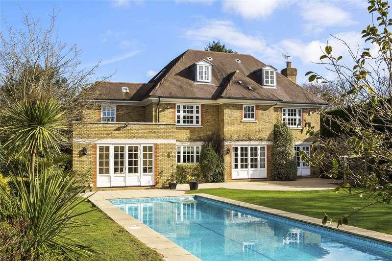 6 Bedrooms Detached House for sale in Onslow Road, Burwood Park, Walton-on-Thames, Surrey, KT12