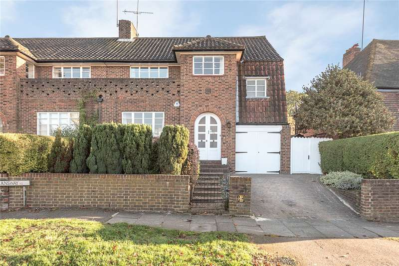 4 Bedrooms Semi Detached House for sale in Deansway, Hampstead Garden Suburb, London, N2