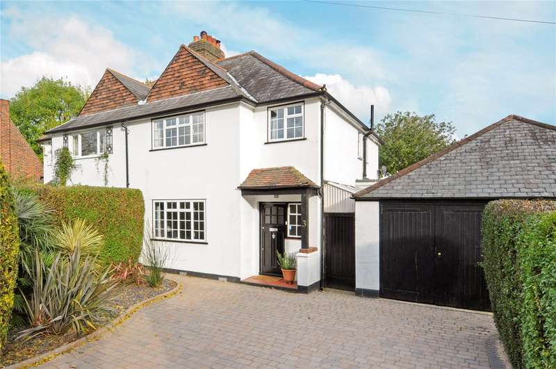 3 Bedrooms Semi Detached House for sale in Imber Grove, Esher, Surrey, KT10