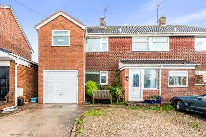 3 Bedrooms Semi Detached House for sale in Windmill Close, Warton, Tamworth, Warwickshire