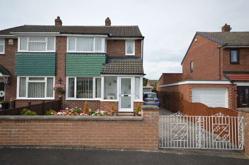 3 Bedrooms Semi Detached House for sale in Thornhill Close, Walton, Wakefield