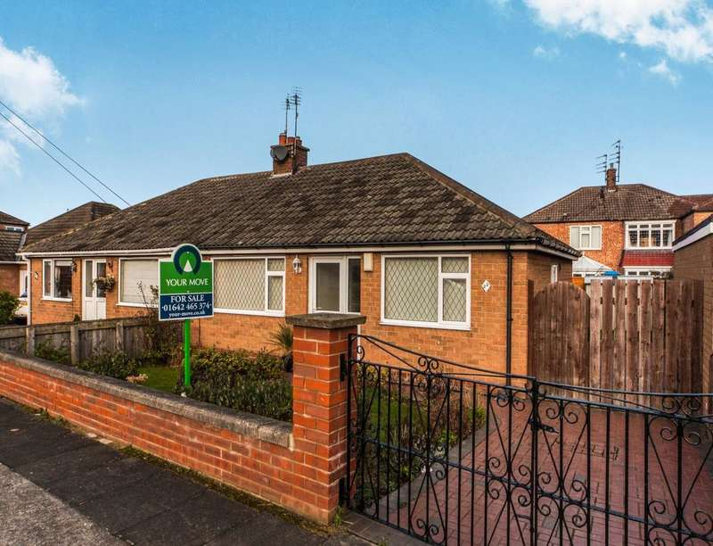 2 Bedrooms Semi Detached Bungalow for sale in Kirknewton Road, Middlesbrough, TS6