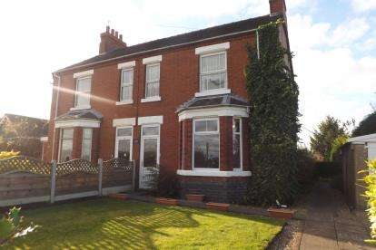 3 Bedrooms Semi Detached House for sale in Hawthorne Villas, Linley Lane, Alsager, Stoke-On-Trent