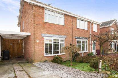2 Bedrooms Semi Detached House for sale in Warren Close, Pilsley, Chesterfield, Derbyshire