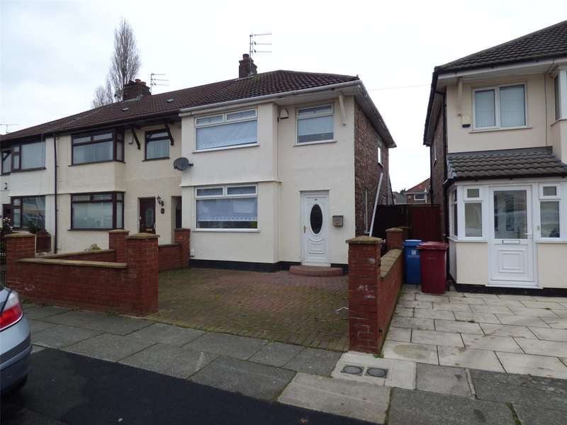 3 Bedrooms Semi Detached House for sale in Jeffereys Crescent, Liverpool, Merseyside, L36