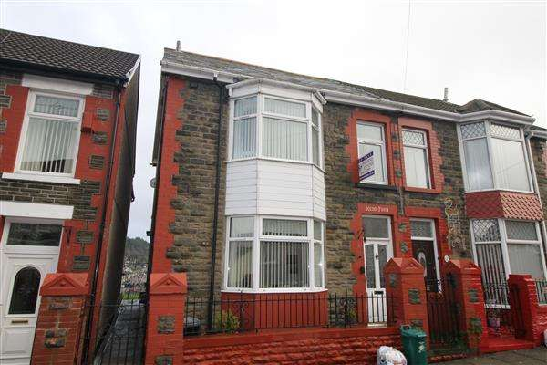 4 Bedrooms Semi Detached House for sale in Chevron Street, Porth, Porth