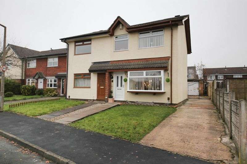 3 Bedrooms Semi Detached House for sale in Stanedge Grove, Hawkley Hall, Wigan
