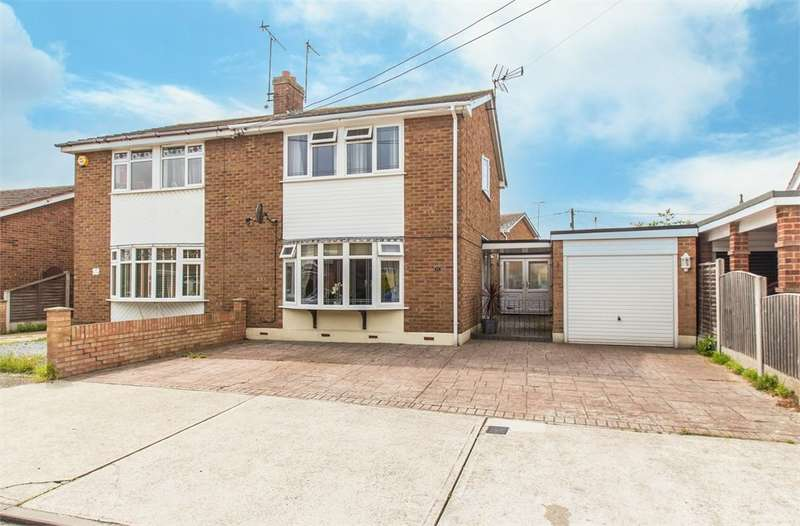 3 Bedrooms Semi Detached House for sale in Hellendoorn Road, Canvey Island, SS8