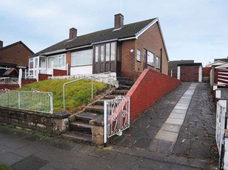 2 Bedrooms Semi Detached Bungalow for sale in Foley Road, Longton, Stoke-On-Trent, Staffordshire, ST3 2LH