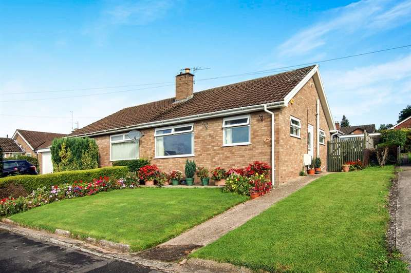 2 Bedrooms Semi Detached Bungalow for sale in Hillcrest Road, Wyesham, Monmouth