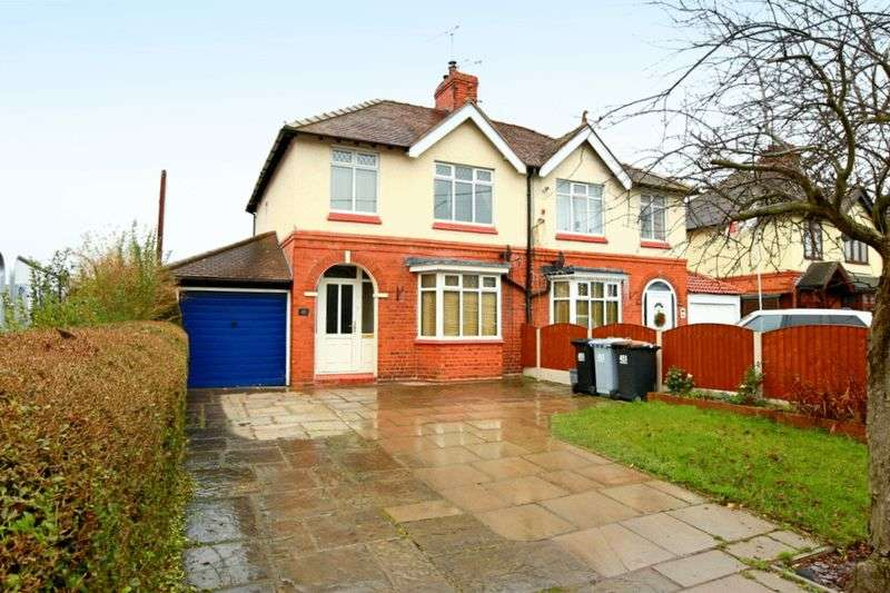 3 Bedrooms Semi Detached House for sale in Newcastle Road, Crewe