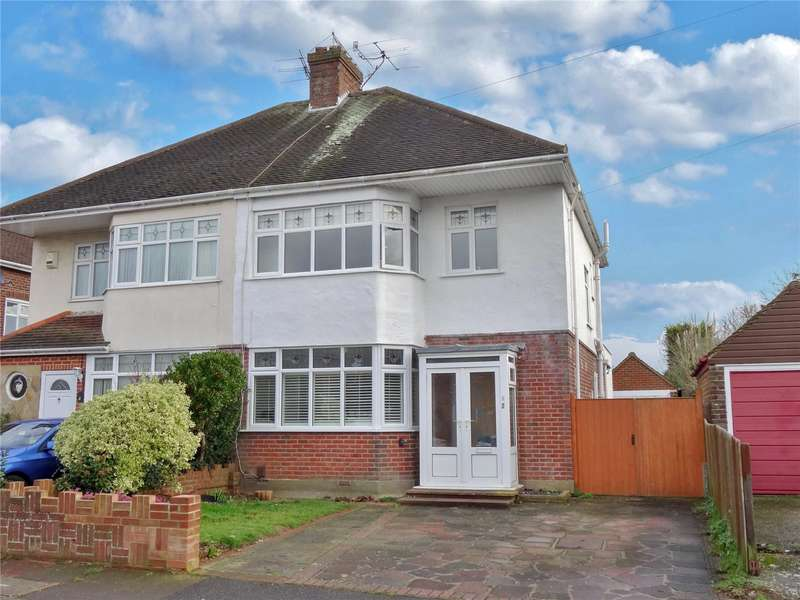 3 Bedrooms Semi Detached House for sale in Watersfield Road, Tarring, Worthing, BN14