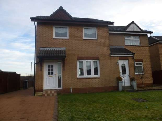 3 Bedrooms Semi Detached House for sale in Kilbowie Place, Petersburn, Airdrie, ML6