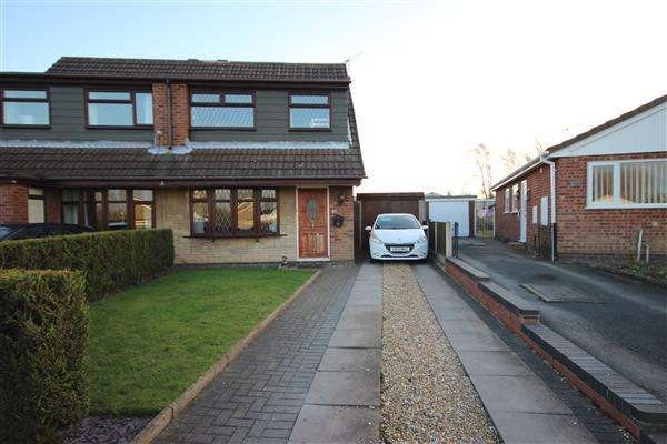 3 Bedrooms Semi Detached House for sale in Wenham Drive, Meir Park, Stoke-on-Trent
