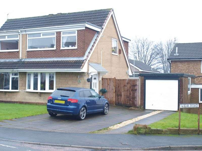 3 Bedrooms Semi Detached House for sale in Weir Road, Milnrow, OL16 3UX