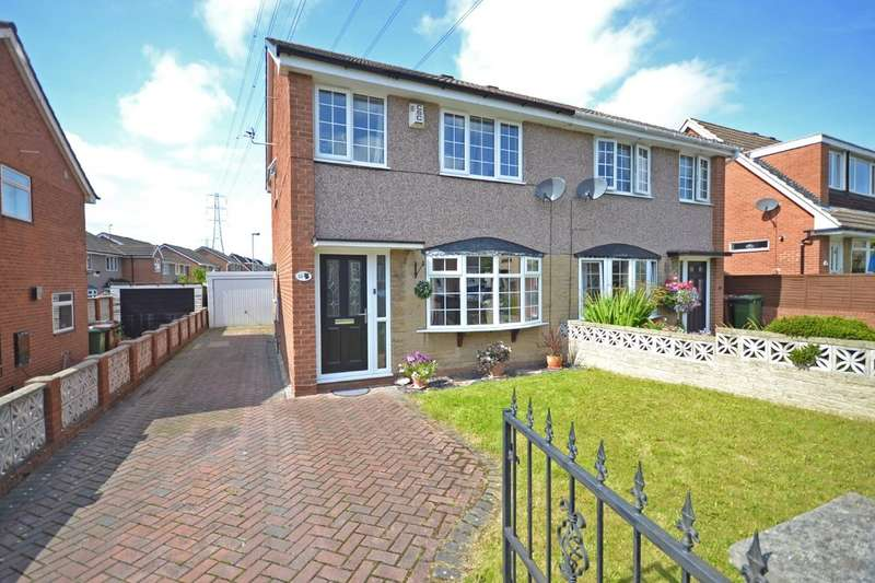 3 Bedrooms Semi Detached House for sale in Noon Close, Stanley, Wakefield