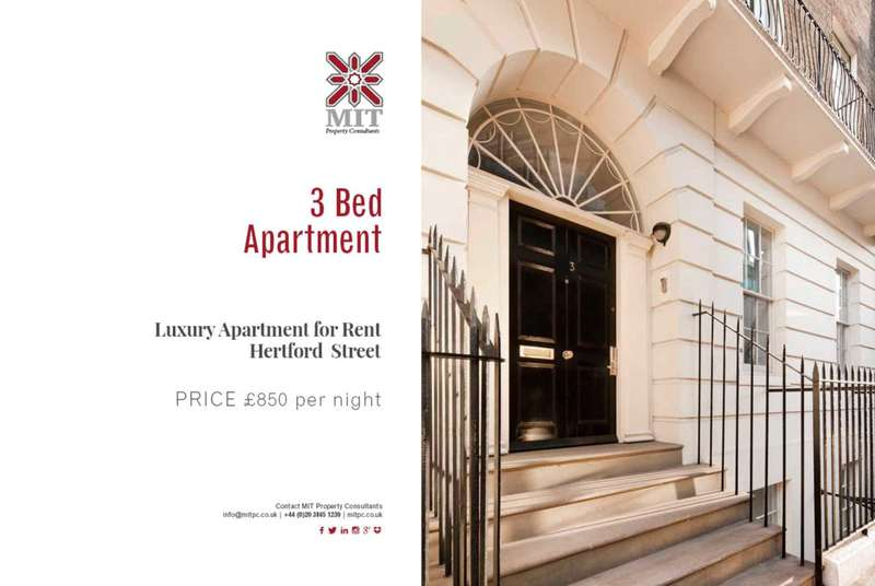 3 Bedrooms Serviced Apartments Flat for rent in Hertford Street, Mayfair