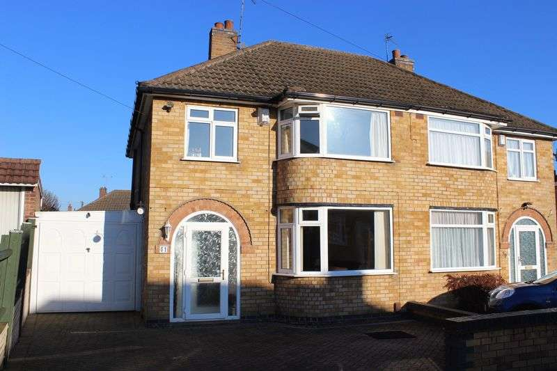 3 Bedrooms Semi Detached House for sale in Ryegate Crescent, Birstall, Leicester