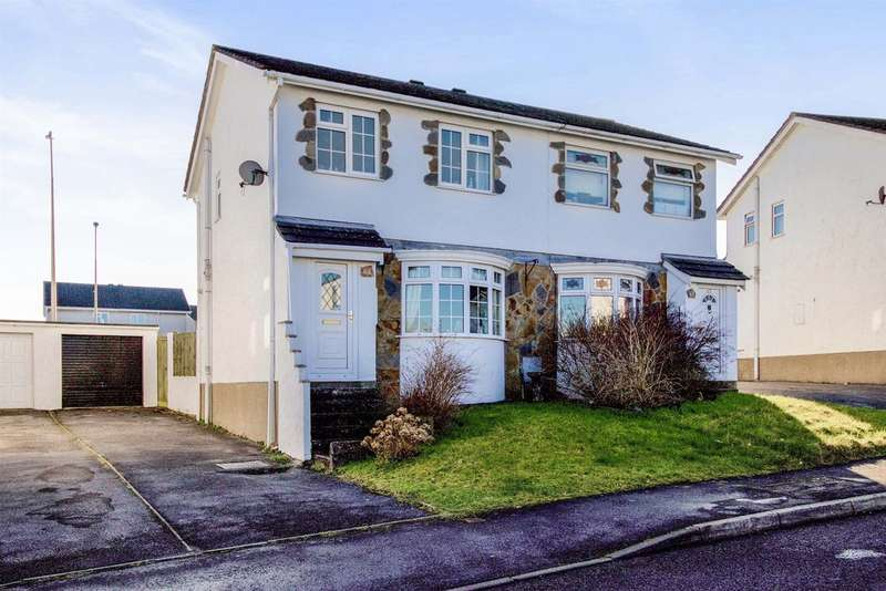 3 Bedrooms Semi Detached House for sale in Fox Hollows, Brackla, Bridgend