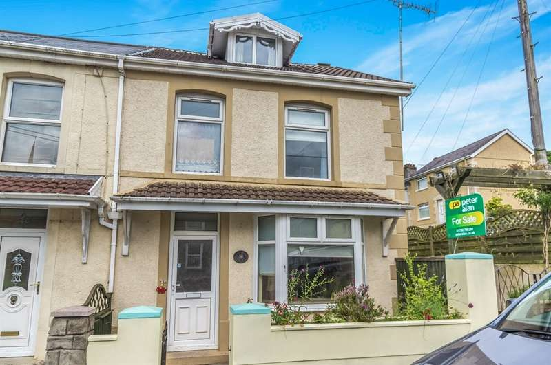 3 Bedrooms Semi Detached House for sale in Quarr Road, Pontardawe, Swansea