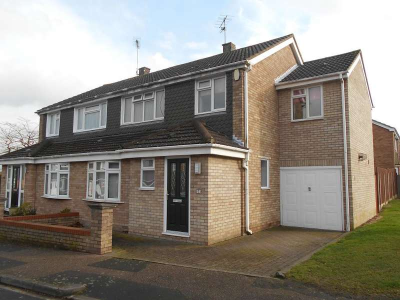 4 Bedrooms Semi Detached House for sale in Wansbeck Road, Bedford, Bedfordshire, MK41 7AX
