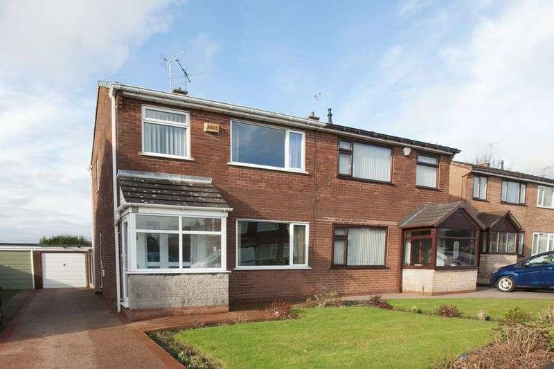 3 Bedrooms Semi Detached House for sale in Churchfield, Shevington, WN6 8BE