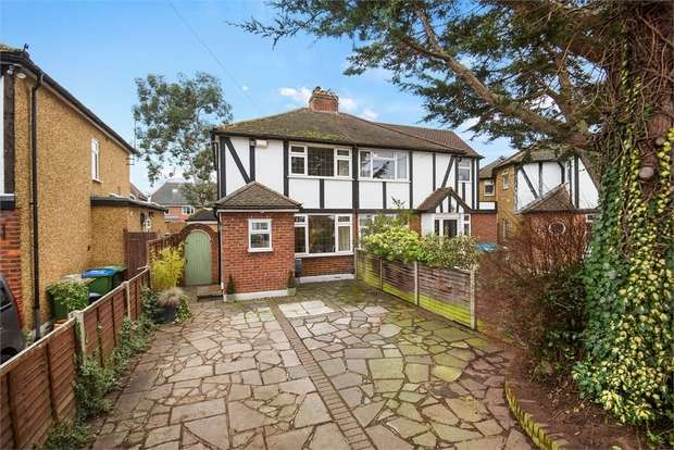 3 Bedrooms Semi Detached House for sale in Burwood Close, Hersham, Walton-on-Thames, Surrey