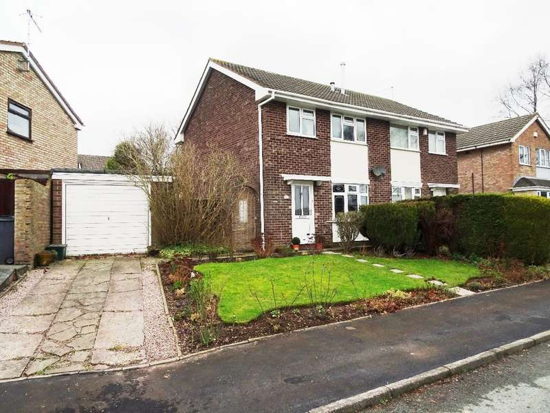 3 Bedrooms Semi Detached House for sale in Aldrin Close, Meir Park, ST3 7QN