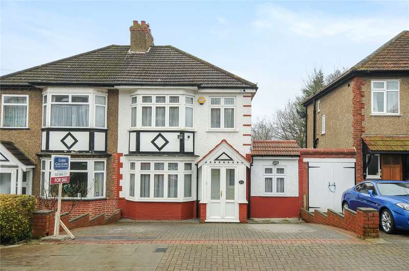 3 Bedrooms Semi Detached House for sale in Lyndhurst Avenue, Pinner, Middlesex, HA5