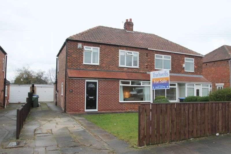3 Bedrooms Semi Detached House for sale in Glendale Road, Tollesby