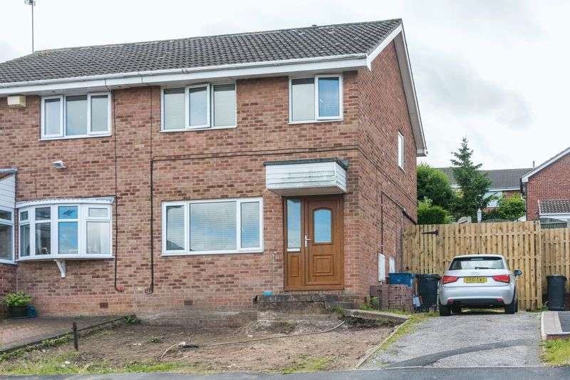 3 Bedrooms Semi Detached House for sale in Blackburn Croft, Chapeltown, S35 2ZJ - Viewing Essential