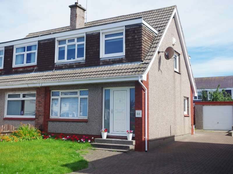 3 Bedrooms Semi Detached House for sale in 64 Whitlees Court, Ardrossan, KA22 7PE