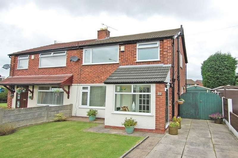 3 Bedrooms Semi Detached House for sale in Wood Lane, Partington, Manchester, M31