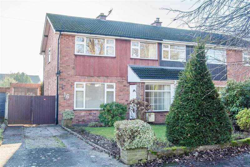 3 Bedrooms Semi Detached House for sale in Hallfields Road, Tarvin, Chester, Chester