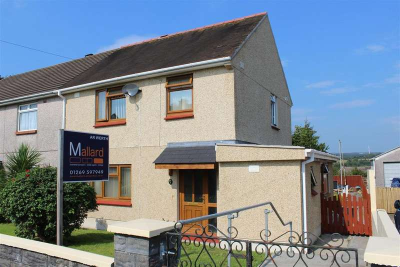3 Bedrooms Semi Detached House for sale in Brynhafod, Ammanford