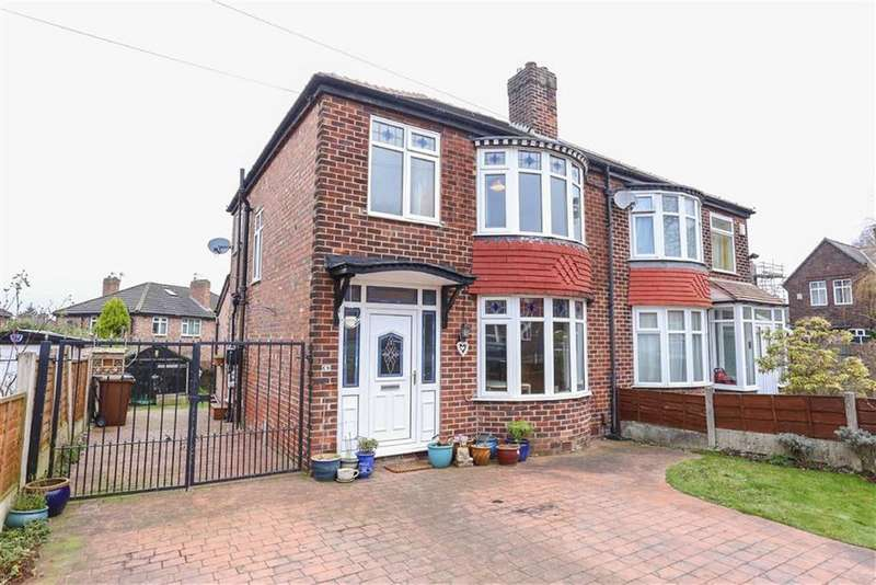 3 Bedrooms Semi Detached House for sale in Whitehurst Road, Heaton Mersey