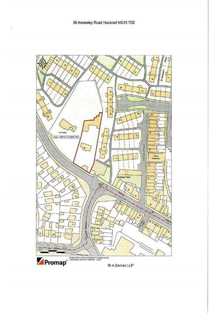 Land Commercial for sale in 56, Annesley Road, Hucknall, Notts