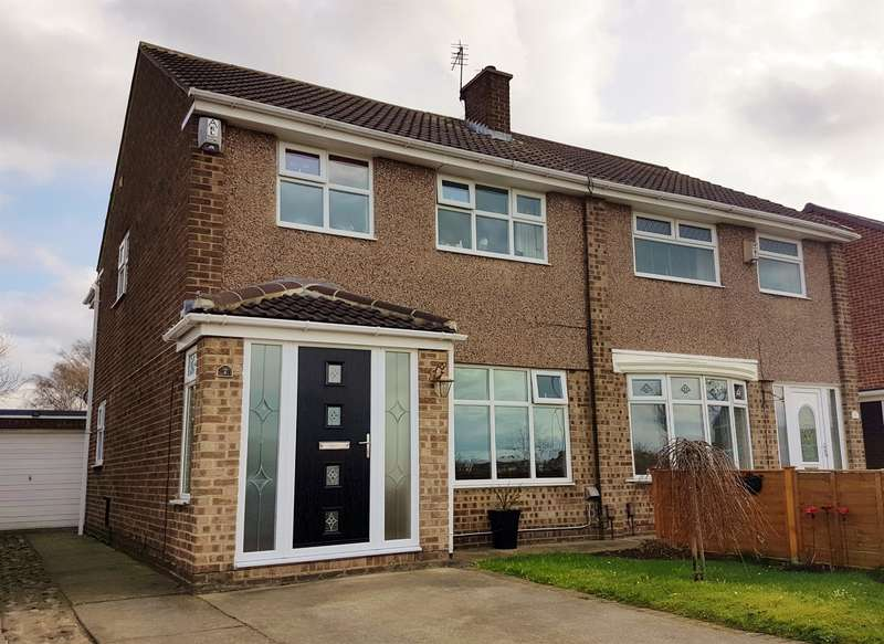 3 Bedrooms Semi Detached House for sale in Swainston Close, Acklam, Middlesbrough, TS5 8SF